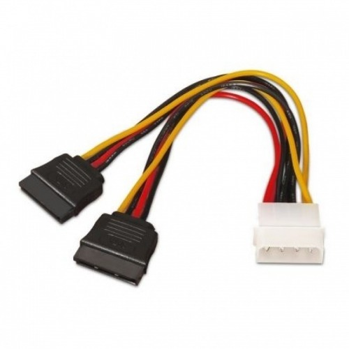Aisens Cable Sata Alimentacion Molex 4Pin/M-2Xsata/H 20Cm