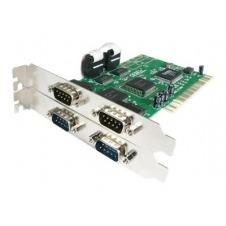 StarTech.com Tarjeta Adaptadora PCI de 4 Puertos Serie RS232 DB9 UART 16550 - Doble Voltaje - adaptador serie
