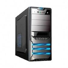 Caja CPU, ATX/micro ATX, LED, 1x USB 2.0, 1x USB 3.0, 1x HD Audio/mic, 500W 120mm, 4.4kg, Negro