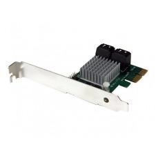 StarTech.com Tarjeta Adaptadora Controladora PCI Express PCI-E SATA 3 III 6Gbps RAID 4 Puertos con HyperDuo - controlador de almacenamiento (RAID) - S