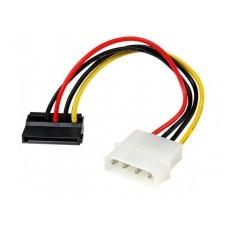 StarTech.com Adaptador Cable 15cm Alimentación SATA Ángulo a la Izquierda 15 Pines a Molex 4 Pines LP4 - adaptador de corriente - 15 cm
