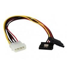 StarTech.com Adaptador Cable 30cm Divisor Molex 4 Pines LP4 a Doble SATA Cierre Seguridad Pestillo Latches - adaptador de corriente - 30 cm