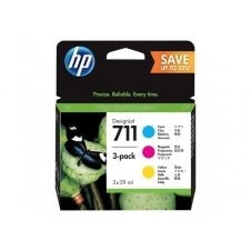 HP 711 - paquete de 3 - amarillo, cián, magenta - original - DesignJet - cartucho de tinta