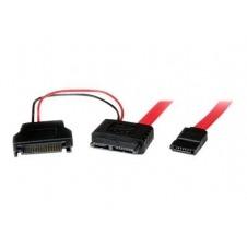 StarTech.com Adaptador Cable de 50cm SATA Slimline Línea Delgada 13 Pines a Molex Macho LP4 y SATA - Cable SATA - 50 cm
