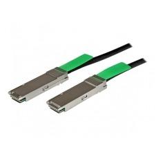 StarTech.com 2m QSFP+ 40-Gigabit Ethernet (40GbE) Passive Copper Twinax Direct Attach Cable - cable de conexión directa - 2 m - negro