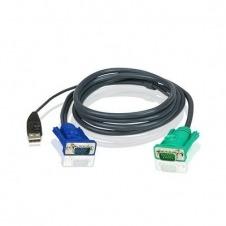 ATEN Micro-Lite 2L-5203U - cable de teclado / vídeo / ratón (KVM) - 3 m