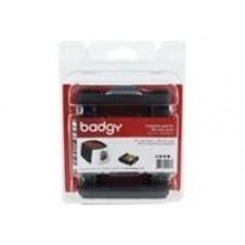 Badgy - color (cián, magenta, amarillo, negro, superpuesto) - casete con cinta de impresión