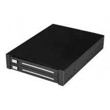 StarTech.com Caja Rack SATA de 2 Bahías de 2,5 Pulgadas para Bahía de 3,5 Pulgadas RAID sin Bandeja de Intercambio en Caliente - controlador de almace