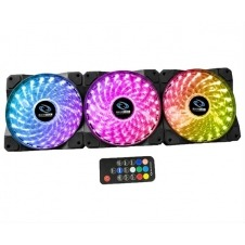 RAIDMAX VENTILADOR 120mm 1200rpm 23dBA RGB LED Fan 3x Pack