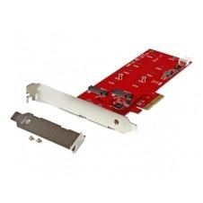 StarTech.com 2x M.2 SSD Controller Card - PCIe - M.2 SATA III NGFF Card - controlador de almacenamiento - M.2 Card / SATA 6Gb/s - PCIe 2.0 x2