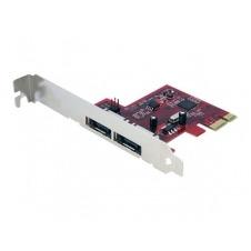 StarTech.com Tarjeta Adaptadora Controladora PCI Express PCIe 2 Puertos eSATA - SATA III 6Gbps - controlador de almacenamiento - eSATA 6Gb/s - PCIe