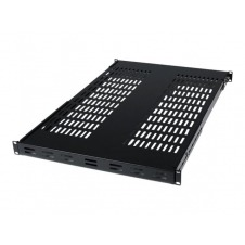 StarTech.com 1U Adjustable Mount Depth Vented Rack Mount Shelf 175lbs/80kg - estante para bastidor - 1U