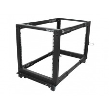 StarTech.com 12U Adjustable Depth Open Frame 4 Post Server Rack - rack - 12U