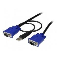 StarTech.com 2 en 1 Cable KVM de 1,8m Ultra Delgado Todo en Uno VGA USB HD15 - 6t Pies 2 en 1 - cable de teclado / vídeo / ratón / USB - 1.83 m