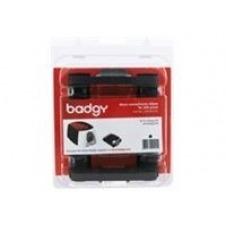 Badgy - negro / monocromo - casete con cinta de impresión