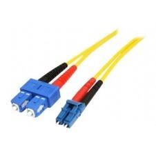 StarTech.com Cable Adaptador de Red de 1m Monomodo Dúplex Fibra Óptica LC-SC - Patch Duplex Modo Sencilla - cable de red - 1 m