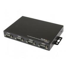 StarTech.com Adaptador Concentrador Hub 4 Puertos Serie Serial RS232 DB9 a USB con Retención Puerto COM - adaptador serie