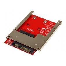 StarTech.com Adaptador Conversor de SSD mSATA a SATA de 2,5 Pulgadas - Convertidor - controlador de almacenamiento - SATA 6Gb/s - SATA 6Gb/s