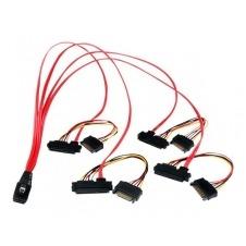 StarTech.com Cable de 50cm SAS Serial Attached SCSI SFF 8087 a 4x SATA Datos y Corriente Alimentación - Rojo - cable interno SAS - 50 cm