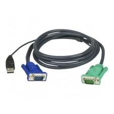 ATEN 2L-5202U - cable de teclado / vídeo / ratón (KVM) - 1.8 m