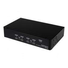 StarTech.com Conmutador Switch KVM 4 puertos Vídeo DisplayPort DP Hub Concentrador USB 2.0 Audio - 2560x1600 - conmutador KVM / audio / USB - 4 puerto