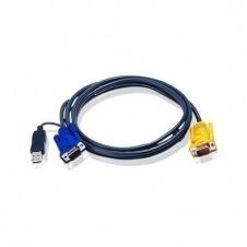 ATEN 2L-5202UP - cable de teclado / vídeo / ratón (KVM) - 1.8 m
