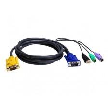 ATEN 2L-5302UP - cable de teclado / vídeo / ratón (KVM) - 1.8 m