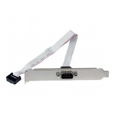StarTech.com 16in 9-pin Serial Male to 10-pin Motherboard Header Slot Plate - panel serie - 41 cm