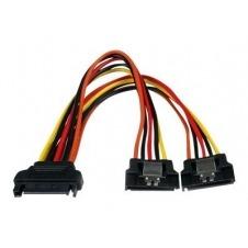 StarTech.com Cable 0,15m Adaptador Bifurcador Divisor Splitter Alimentación SATA Latching Cierre Pestillo - 2x Hembra - separador de alimentación - 15