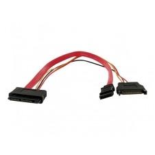 StarTech.com Cable Micro SATA a SATA de 12 pulgadas con Adaptador de Corriente SATA - Cable SATA - 30 cm