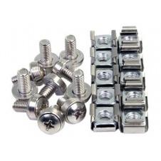 StarTech.com 100Pkg M6 Mounting Screws & Cage Nuts - tornillos y tuercas para bastidor