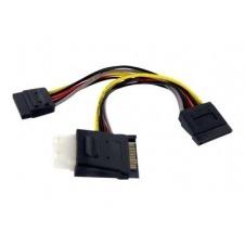 StarTech.com SATA to LP4 with 2x SATA Power Splitter Cable - separador de alimentación - 15.2 cm