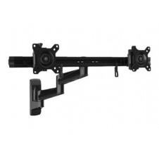 StarTech.com Brazo de Soporte VESA Articulado de Pared para 2 Monitores de 15 a 24 Pulgadas - de Acero - brazo ajustable