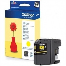 Brother LC121Y - amarillo - original - cartucho de tinta