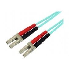 StarTech.com 2m LC Fiber Optic Cable - 10Gb Aqua - MM Duplex 50/125 - LSZH - cable de interconexión - 2 m - agua