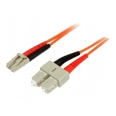 StarTech.com 3m Fiber Optic Cable - Multimode Duplex 50/125 - LSZH - LC/SC - cable de red - 3 m