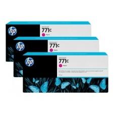 HP 771C - paquete de 3 - magenta - original - cartucho de tinta