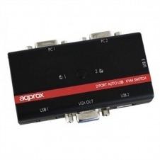 approx! APPKVMUSB2PV2 Conmutador KVM USB/VGA