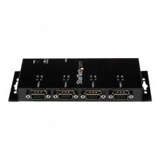 StarTech.com Concentrador Adaptador USB a Serie RS232 DB9 4 Puertos - Riel DIN Industrial y Montaje en Pared - adaptador serie