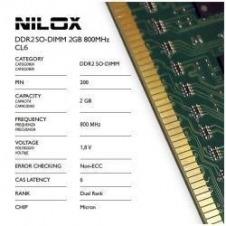 RAM DDR2 SO-DIMM 2GB 800MHZ CL6