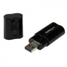 StarTech.com Tarjeta de Sonido Estéreo USB Externa Adaptador Conversor - Negro - tarjeta de sonido