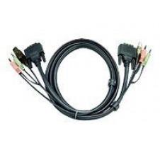 ATEN 2L-7D05U - cable de vídeo / USB / audio - 5 m