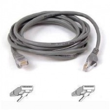 Belkin - Cable de interconexión - RJ-45 (M) a RJ-45 (M) - 2 m - UTP - CAT 5e - sin enganches - gris - para Omniview SMB 1x16, SMB 1x8, OmniView SMB CAT5 KVM Switch