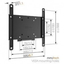 MA2000 FLAT TV WALL MOUNT 19-40