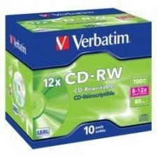 Verbatim - CD-RW x 10 - 700 MB - soportes de almacenamiento
