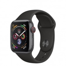 APPLEWATCH S4 GPS+CELL 40MM ACCSSPACE GREY ALUM CASE BLACK IN
