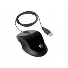 HP X1500 - ratón - USB - gris metálico, negro brillante
