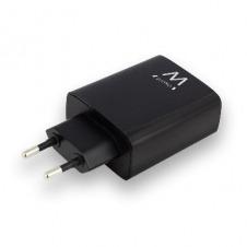 EWENT USB AC charger, smart IC, 4 ports, 5.4A (27W), black