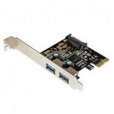 StarTech.com Adaptador Tarjeta Controladora PCI Express PCI-E 2 Puertos USB 3.0 con Alimentación SATA - adaptador USB