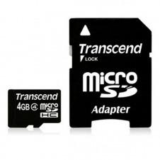 MICRO SD 4GB CLASE 4 ADAPTADOR